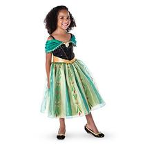 Vestido Disfraz Anna Frozen Lujo Original Disney Store