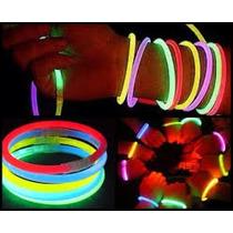 100 Pulseras Neón Lumino Animación,bodas,eventos,fiestas Mn4