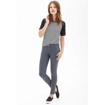 Jeans Pantalon Color Gris Forever 21 Original