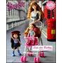 Carrinho De Bebê P/ Boneca Barbie Mamãe Susi + Bebê * Kelly