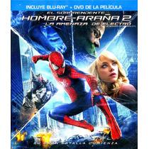 Bluray + Dvd Sorprendente Hombre Araña 2 La Amenaza De Elect