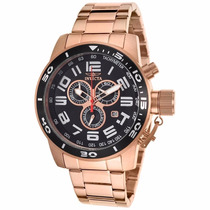 Relogio Invicta 17102 Corduba Rose 18k Chrono Gold-plated