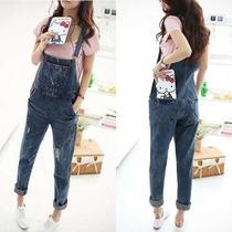 Macacao Jeans Varios Modelos P M G