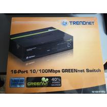 Switch 16 Puertos Trendnet Te100-s16eg
