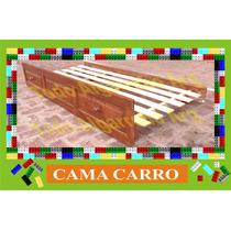 Cama Carro De Algarrobo. Cama Carrito De 1 Plaza