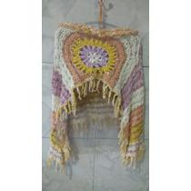 Cropped Croche Trabalhado Franja