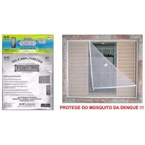 Tela Mosqueteira Anti-inseto Para Janelas E Portas 100x120cm