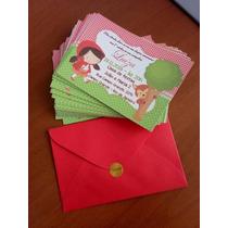 30 Convites Infantil Personalizados + Envelopes