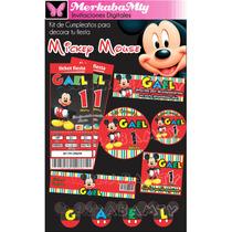 Invitaciones De Cumpleaños Kit Mickey Mouse Imprimelo Tu!!