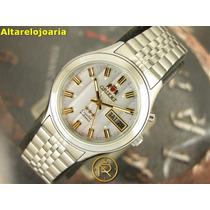 Relógio Orient Automatico Calendário Duplo Mostrador Degrade