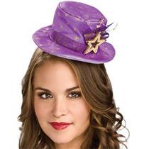 Purple Mini Sombrero Superior Con Las Estrellas Del Oro Del