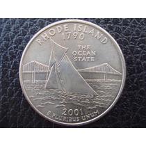 U. S. A. - Rhode Island, Moneda D 25 Centavos (cuarto), 2001