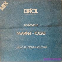 Marina Lima Dificil Lp Vinil Single Philips 1985