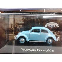 Coleção Carros Inesquecíveis Do Brasil Fusca 1961 - Lacrado