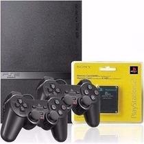 Playstation 2 Semi Novo Original + Jogos De Brinde+ Garantia