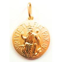 Medalha São Bento Em Ouro 18k - 1.00grama Decolar Joias