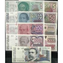 Serie De 9 Billetes Australes Sin Circular