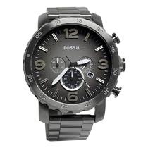 Relógio Fossil Jr1437 Smoke Grey Dial Nate Stainless Steel