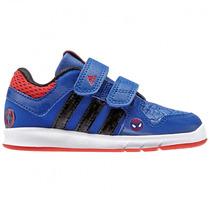 Tenis Marvel Lk Spiderman Velcro Para Bebe Adidas B24569
