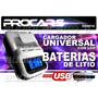 Cargador Portatil Universal Baterias Celulares 220v Lcd Usb