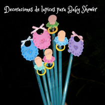 Decoraciones Lapices,distintivo Nacimiento,baby Shower Foami