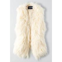 American Eagle Fur Vest Chaleco De Pelo Sintetic Talla Chica