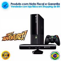 Xbox 360 Com Kinect + 2 Jogos + Nota Fiscal E Garantia