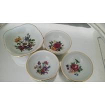 4 Mini Compoteras P/dulces,dips,salsas... Finisima Porcelana