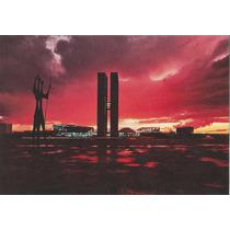 Bsb-13444- Postal Brasilia, D F- Por Do Sol Praça 3 Poderes