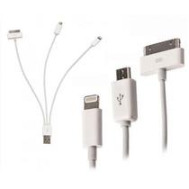 Cargador Transmisor De Datos 4 En 1 Ipod Ipad Iphone 4 Y 5 S