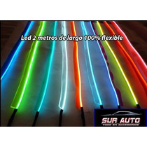 Hilo De Neon Led 12 Volt Flexible 2 Metros Varios Calores
