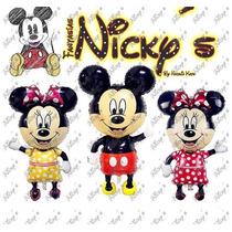 12 Globos Cabezas Y Cuerpos De Mickey Y Minnie Mouse