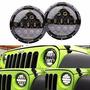 Faro Led Principal Redondo 75w Jeep Vocho Harley 7 Pulgadas