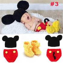 Conjunto Newborn Mickey / Minie Crochê
