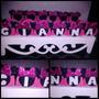 50 Forminha Minnie Pink E Vermelha Personalizado Eva Gliter