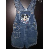 Jumpers Overol Mickey Mouse De Disney De Mezclilla Para Niño