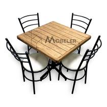Mesa De Madera Sillas Para Restaurante Bar Cafetería Lounge