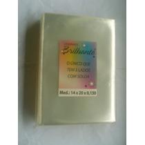 Saquinho Plastico Envelope P/ Dvd Cd Sem Aba 1k - 14x20x0,13