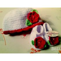 Zapatilla Y Gorro Tejido A Crochet