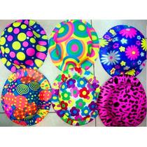 12 Sombrero Bombìn Plastico Neón Fiestas Eventos Batucada Dj