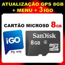 Atualização Gps Igo Cartão Memória 8gb Avisa Radares E 3d
