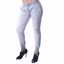 Calça Slim Skinny Moletom Swag Feminina Jogger_jogging Taf