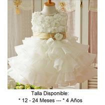 Lindo Vestido Fiesta Elegante Para Niña Bautizo Eventos Bebe