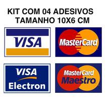 Kit Adesivos Cartão De Credito Visa Mastercard