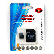 Memoria Micro Sd 16gb Super Talent Con Adaptador En Blister