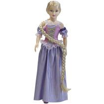 Boneca Stephany Sonho De Princesa Rapunzel Gigante 80cm