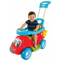 Carrinho Andador Little Truck 3 Em 1 C Haste Empurrar Maral