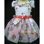 Vestido Fantasia De Festa Infantil Moranguinho - 6 A 9 Meses