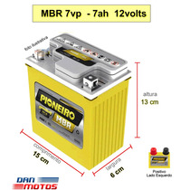 Bateria Moto Yamaha Neo 115 Cód. Ref Yuasa Yb 7b-b 12v 7ah