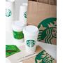 Copo Plástico Starbucks Original Com Tampa Café Espresso Chá